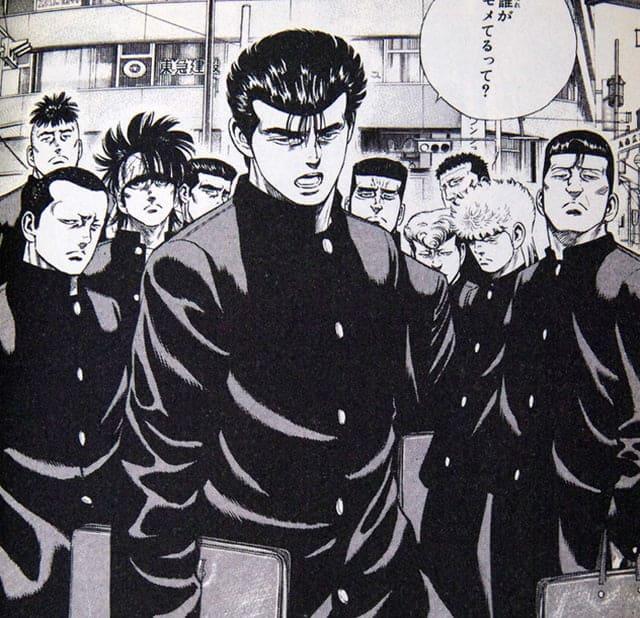ヤンキー漫画:ろくでなしBLUESのワンシーン