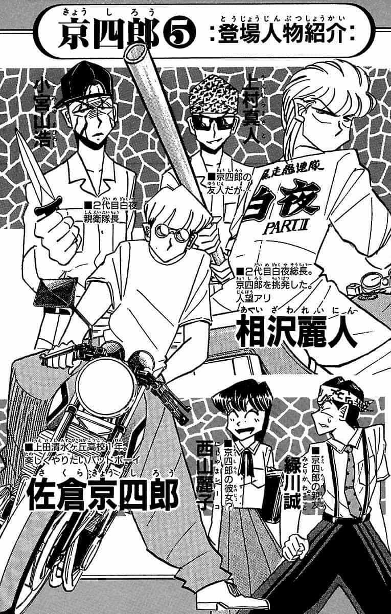 ヤンキー漫画:京四郎の登場人物紹介
